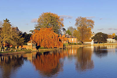 River Thames At Marlow Art Print