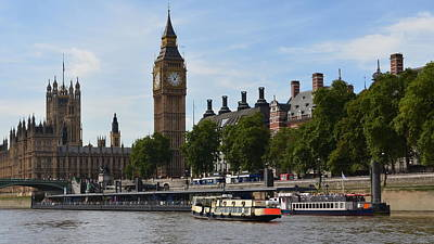 Photograph - River Thames View by Cheryl Miller