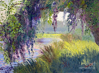 Marsh Scene Painting - River Through The Moss by Patricia Huff
