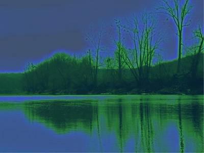 River Trees 2 Art Print