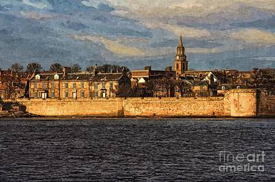 River Tweed At Berwick - Photo Art Art Print