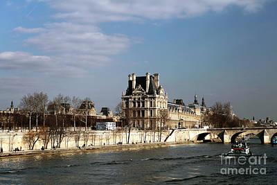 River View In Paris Art Print by John Rizzuto