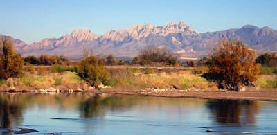 River View Mesilla Panorama Art Print by Kurt Van Wagner