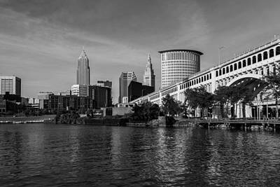 Photograph - River View Of Cleveland Ohio by Dale Kincaid