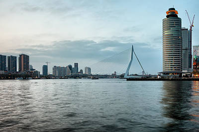 Maas Wall Art - Photograph - River View Of Rotterdam In Netherlands by Artur Bogacki
