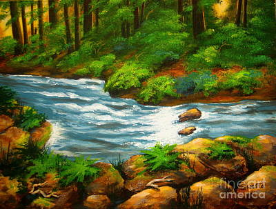 Painting - River  View  by Shasta Eone