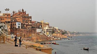 Photograph - River View  - Varanasi India by Kim Bemis