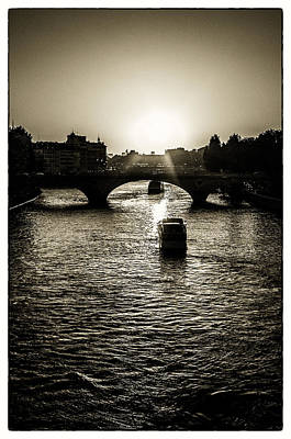 Photograph - River Views On The Seine by Lenny Carter