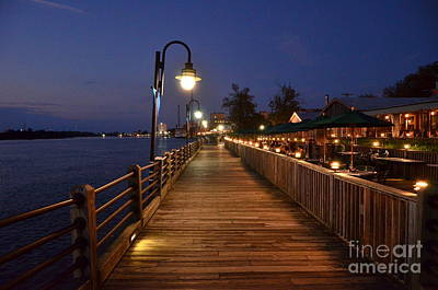 Photograph - River Walk After Hours by Bob Sample