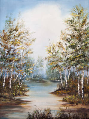 Painting - River Walk by Frances Lewis