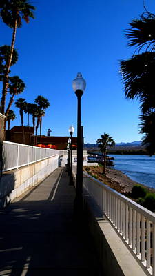Photograph - River Walk In Laughlin Nevada by Kay Novy