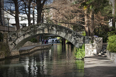 River Walk In San Antonio Texas No. 0279 Art Print by Randall Nyhof