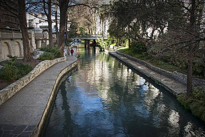 River Walk In San Antonio Texas No. 0281 Art Print by Randall Nyhof
