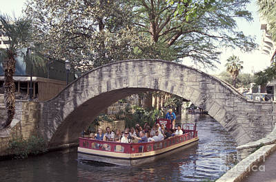 Photograph - River Walk Sightseeing San Antonio Texas by John  Mitchell