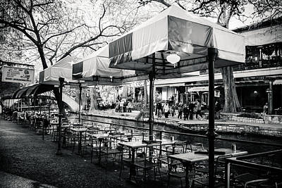 Photograph - River Walk Tables by Melinda Ledsome