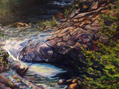 Napa River Rapids Art Print by Art By Lisabelle