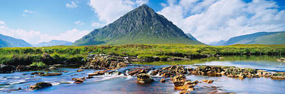 Rannoch Moor Photograph - River With A Mountain by Panoramic Images
