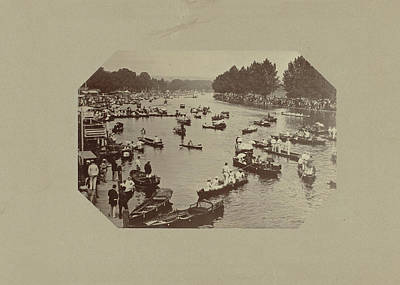 River With Rowboats, Anonymous Art Print