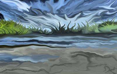 Digital Art - Riverbank by Val Arie