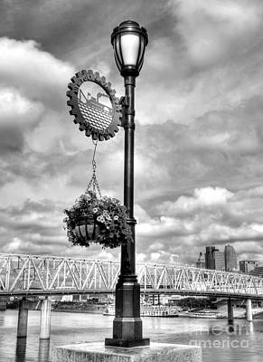 Steamboat Photograph - Riverboat Lamp Bw by Mel Steinhauer
