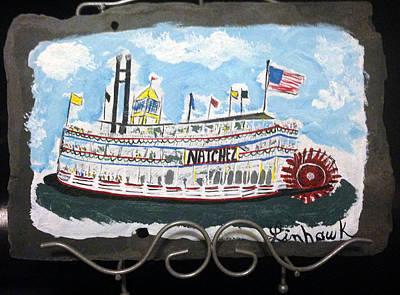 Natchez Painting - Riverboat Natchez by Linda Hawkins