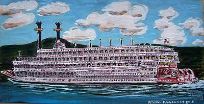 Riverboat Queen Art Print by Mitchell McClenney