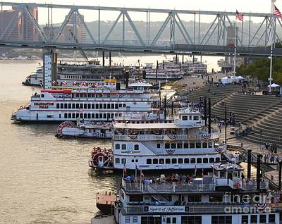 Riverboats Photograph - Riverboat Row by Mel Steinhauer