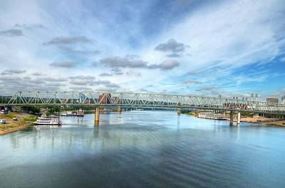 Steamboat Photograph - Riverboats On The Ohio by Mel Steinhauer