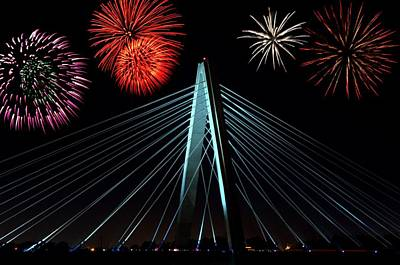 Photograph - Riverfest Kansas City Fireworks  by Tim McCullough