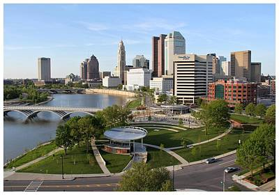 Riverfront Columbus Art Print by Joseph Wickham