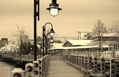 Walkway Digital Art - Riverfront by Cynthia Guinn