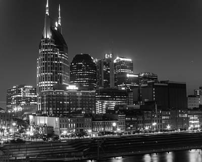 Photograph - Riverfront Night Lights by Robert Hebert