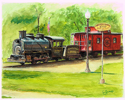 Sewickley Painting - Riverfront Park by C Keith Jones