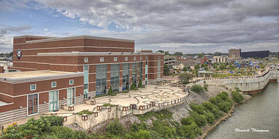 Riverpark Center And Smothers Park Art Print by Wendell Thompson