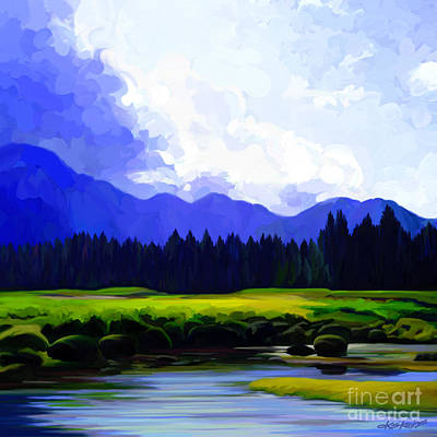 Painting - River's Edge by Dorinda K Skains