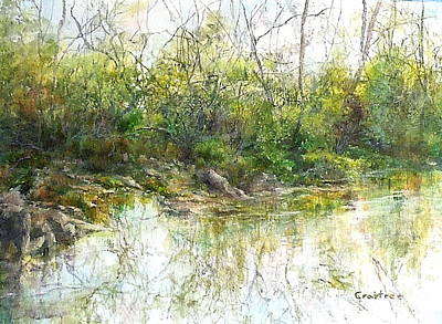 Painting - River's Edge by Elizabeth Crabtree