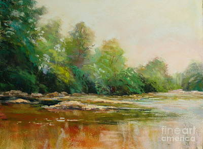 River's Edge Art Print by Virginia Dauth
