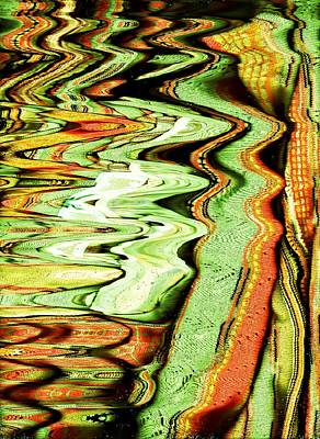 Wacky Mixed Media - Rivers Of Color Gone Wild by Anne-Elizabeth Whiteway