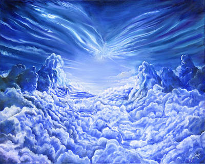 Gostanza Painting - Rivers Of Heaven by Teresa Gostanza