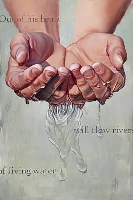 Religious Art Painting - Rivers Of Living Water  by Hannah  Harris