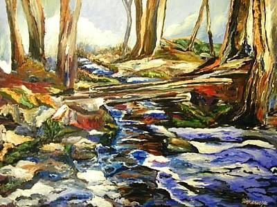 Painting - River's Walk 2 by Ray Khalife