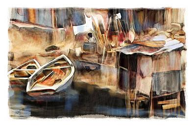 Haitian Drawing - Riverside Cap Haitian by Bob Salo