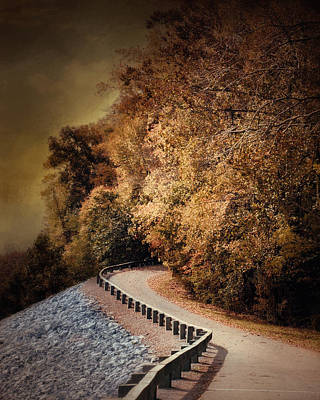 Autumn Scene Photograph - Riverside Drive In Autumn - Landscape by Jai Johnson