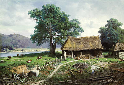 Valaam Painting - View Of The Island Of Valaam by Mikhail Konstantinovich Clodt