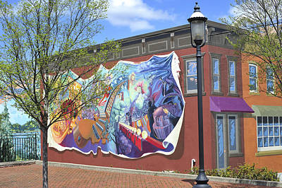 Mural Photograph - Riverside Gardens Park In Red Bank Nj by Terry DeLuco