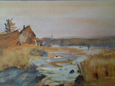 Painting - Riverside by Tom Steiner