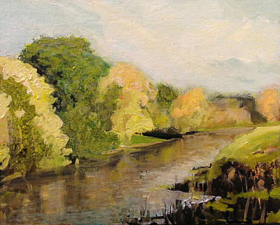 Painting - Riverside Trees by Paul Mitchell