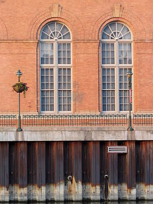 Photograph - Riverwalk Arched Windows by Anita Burgermeister