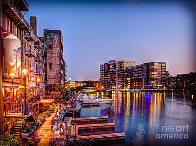 Beer Royalty-Free and Rights-Managed Images - Riverwalk at Dusk by Andrew Slater