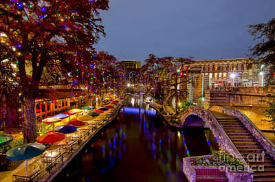 Photograph - Riverwalk Christmas by Cathy Alba